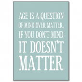 Age is a question..
