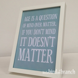 Age is a question... (A4)