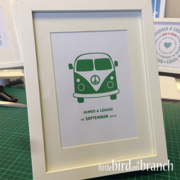 Campervan Wedding framed print