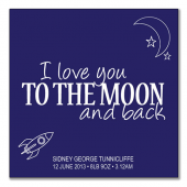 I love you to the moon (blue background)