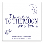 I love you to the moon (white background)