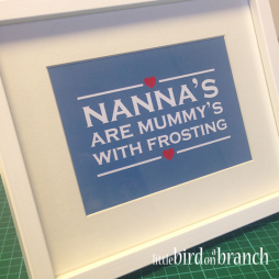 Nanna's are mummy's with frosting framed print