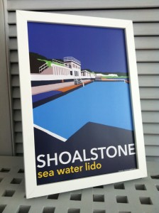 Shoalstone Pool A4 Framed Print