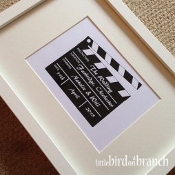 clapperboard movie 'style' framed print