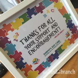 Nursery / pre-school thank you framed print