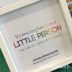Little person framed print