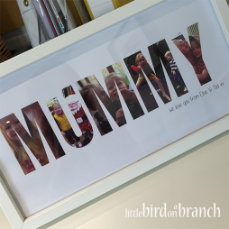 Mummy photo framed print