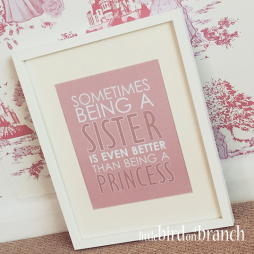 Sometimes being a sister framed print