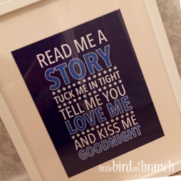 Read me a story framed print